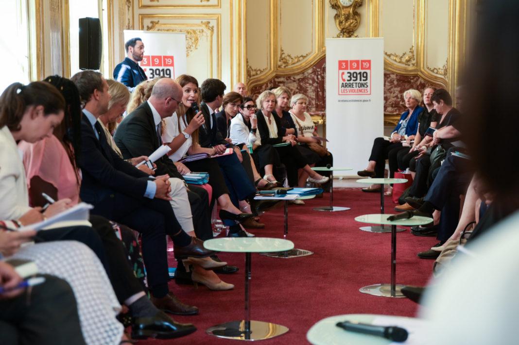 Lancement du Grenelle contre les violences conjugales a Matignon Copyright : Julie Sebadelha/POOL/REA