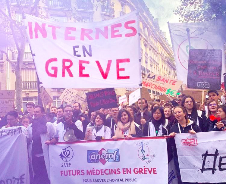 Manifestation des internes, hôpitaux, DR Intersyndicale