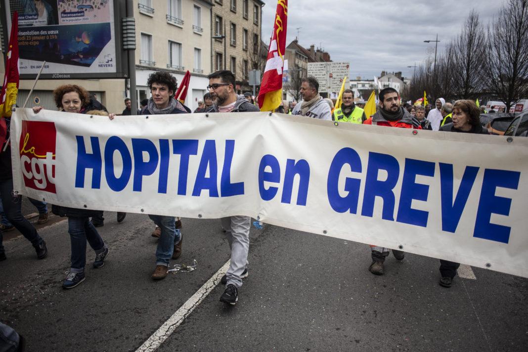 Manifestation hôpital©Jean Luc LUYSSEN/REA