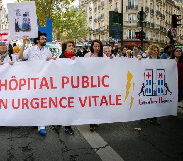 Manifestation pour l'hôpital, DR Collectif inter hôpitaux.