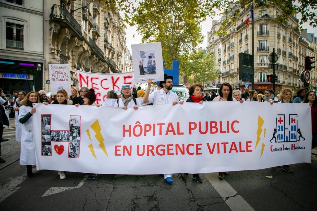 Collectif inter hôpitaux, maifestation du 16 juin 2020 DR